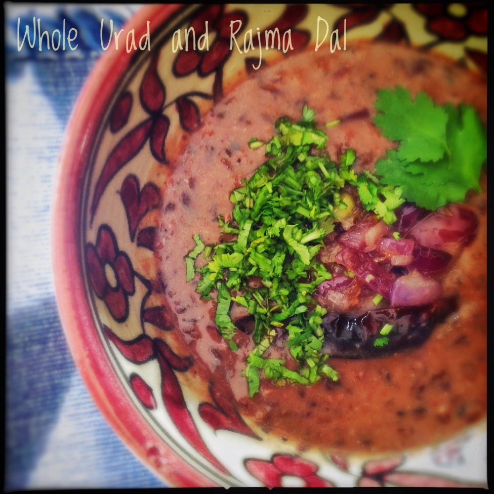 Whole Unhulled Urad and Rajma Dal | Urad and Kidney Beans Dal
