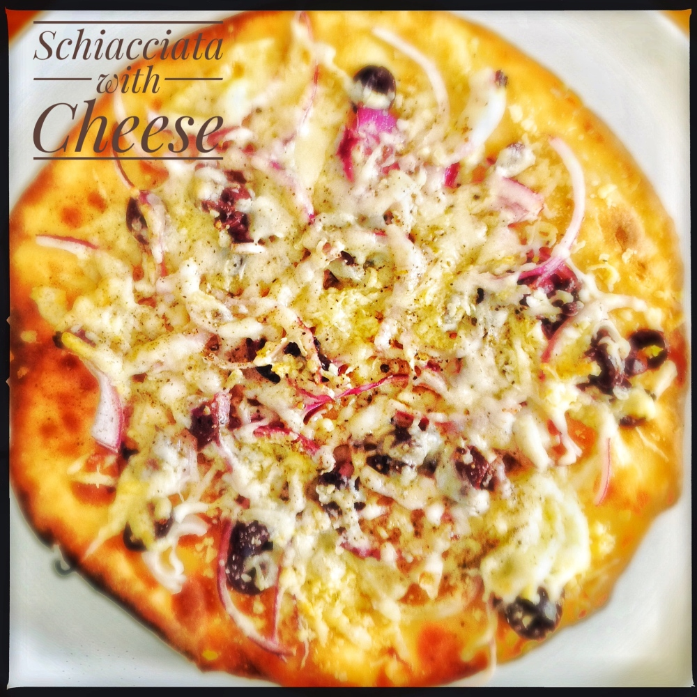 Schiacciata with Cheese Topping
