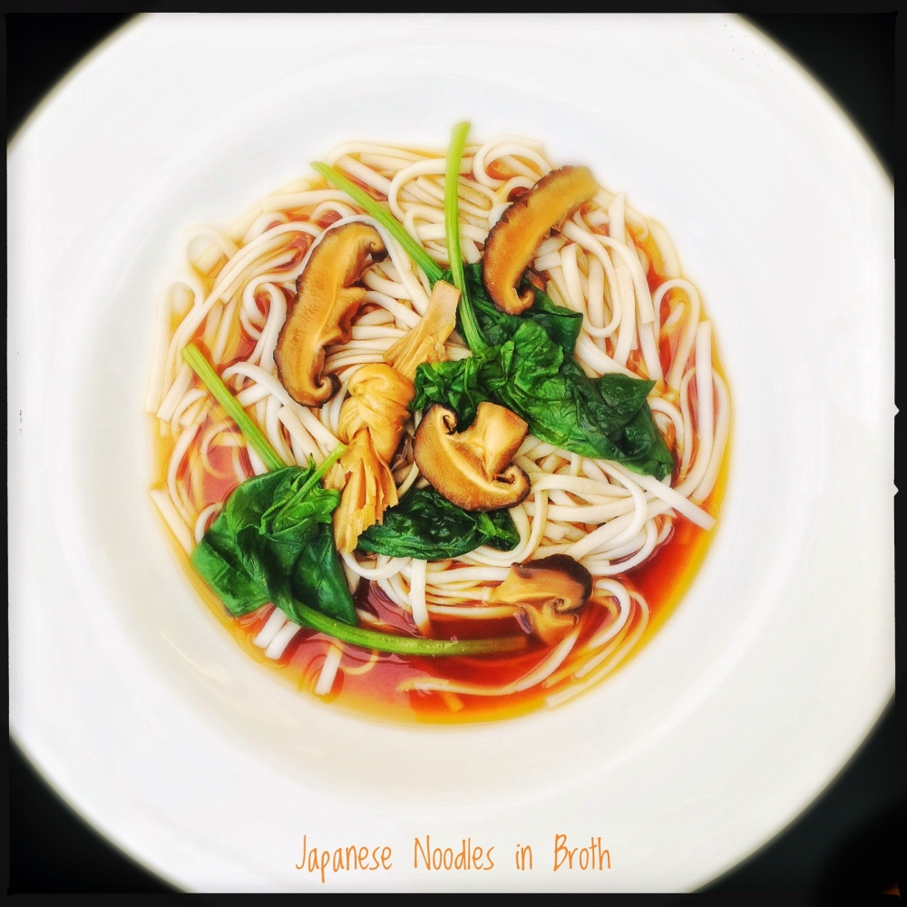 Japanese Noodles in Broth