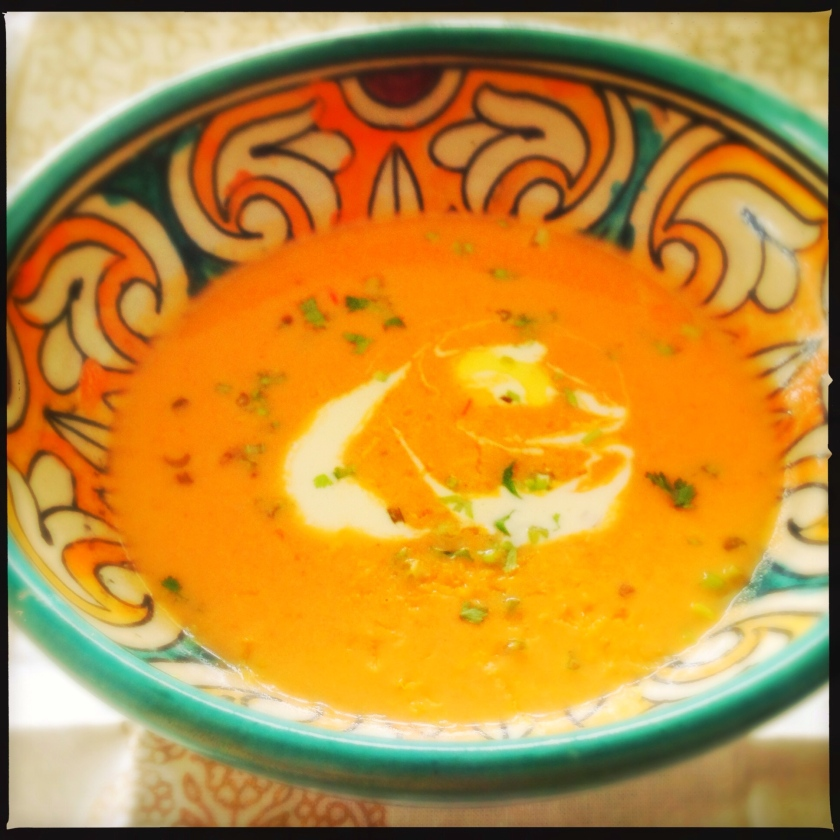 Creamy Tomato Soup wtih Lemongrass and Ginger