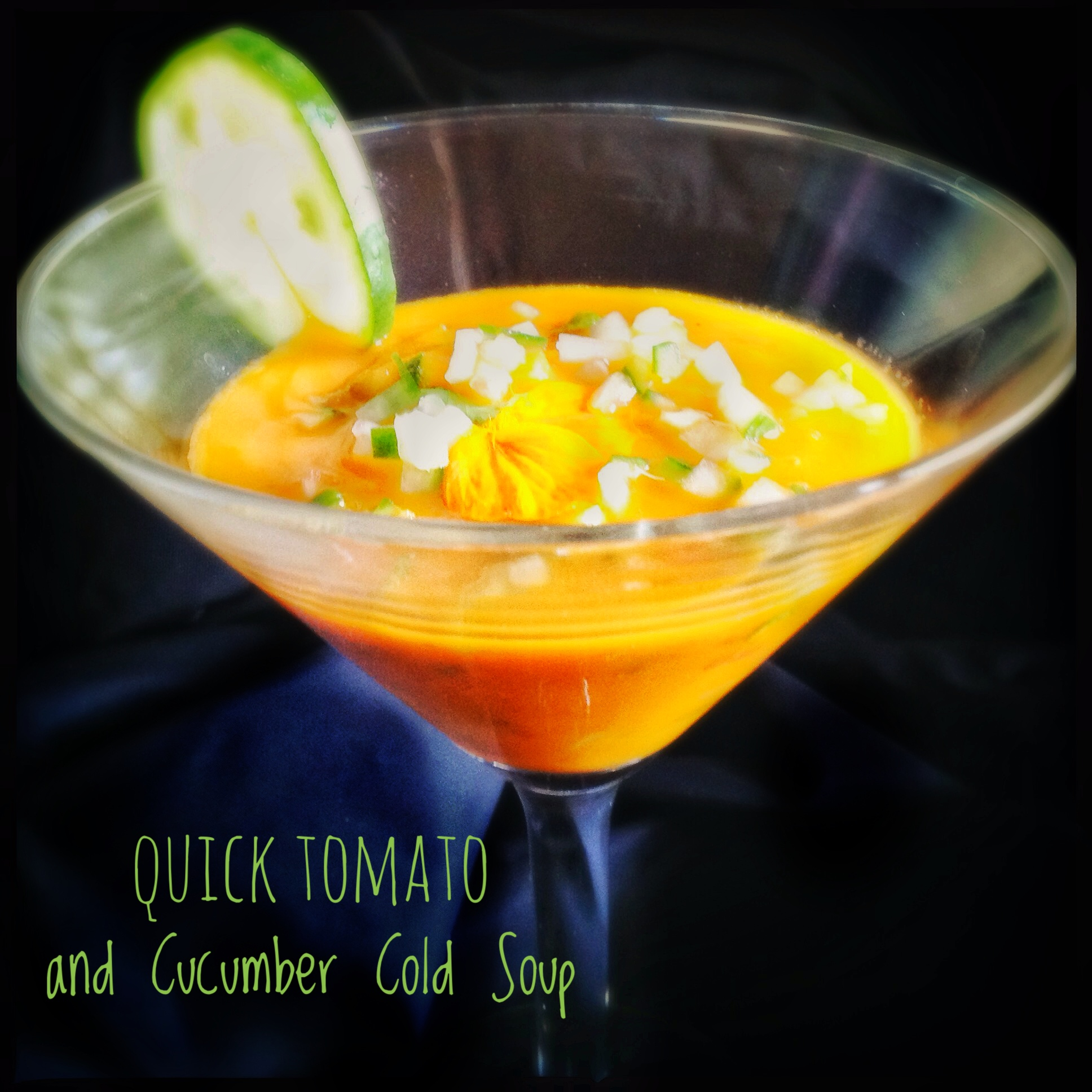Quick Tomato and Cucumber Cold Soup