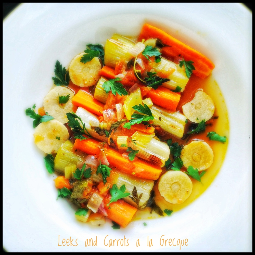 Leeks and Carrots a la Grecque with Tomato and Herbs
