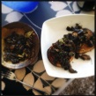 Mushrooms a la Greque: A quick lunch and some mushrooms from the back of the Fridge. September2014