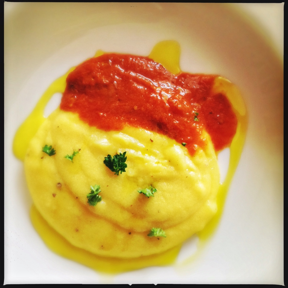 Peter's Wet Polenta and Tomato Layers