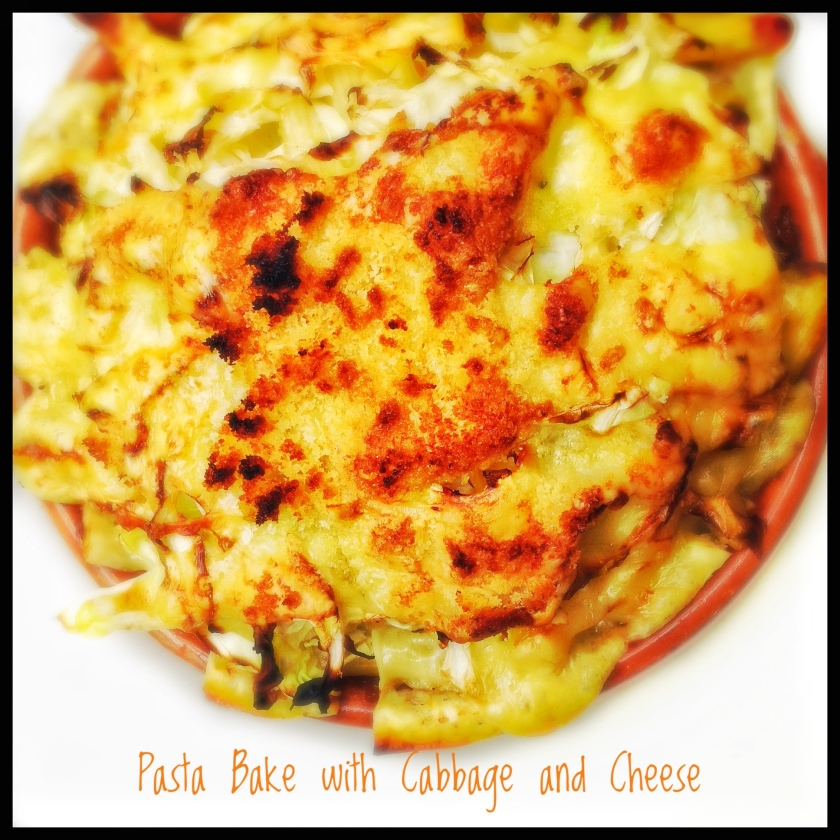 Pasta Bake with Cabbage and Cheese
