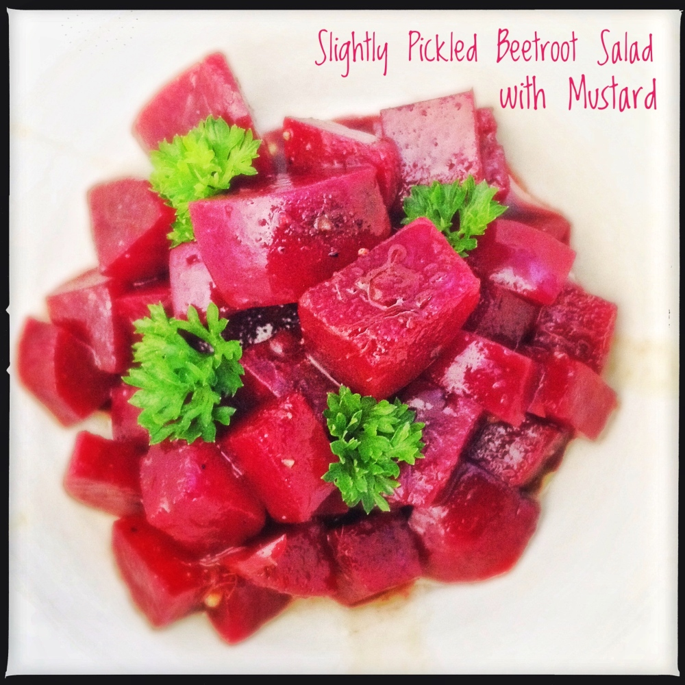 Balsamic Beets - Quick Pickled Beetroot with Mustard