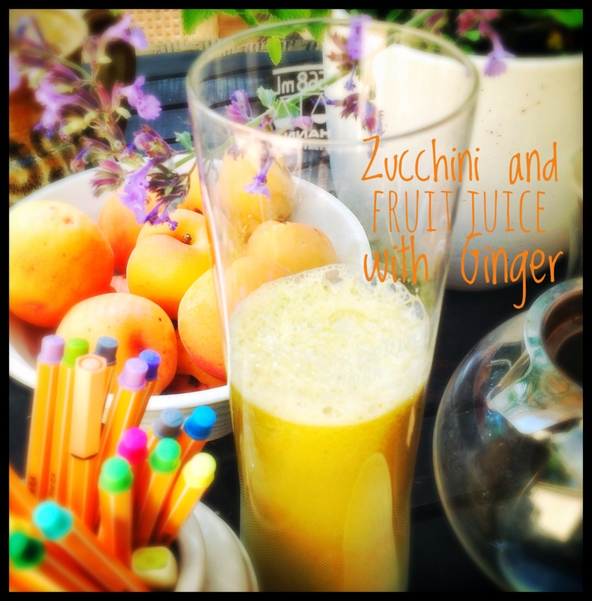 Zucchini and Fruit Juice with Ginger