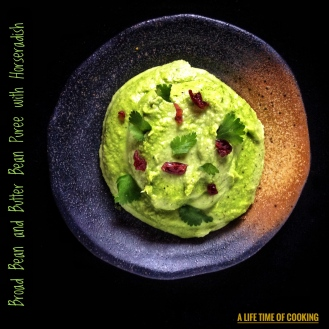 Broad Bean and Butter Bean Puree with Horseradish