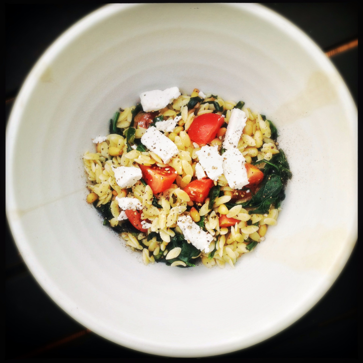 Elegant Orzo Salad with Spinach