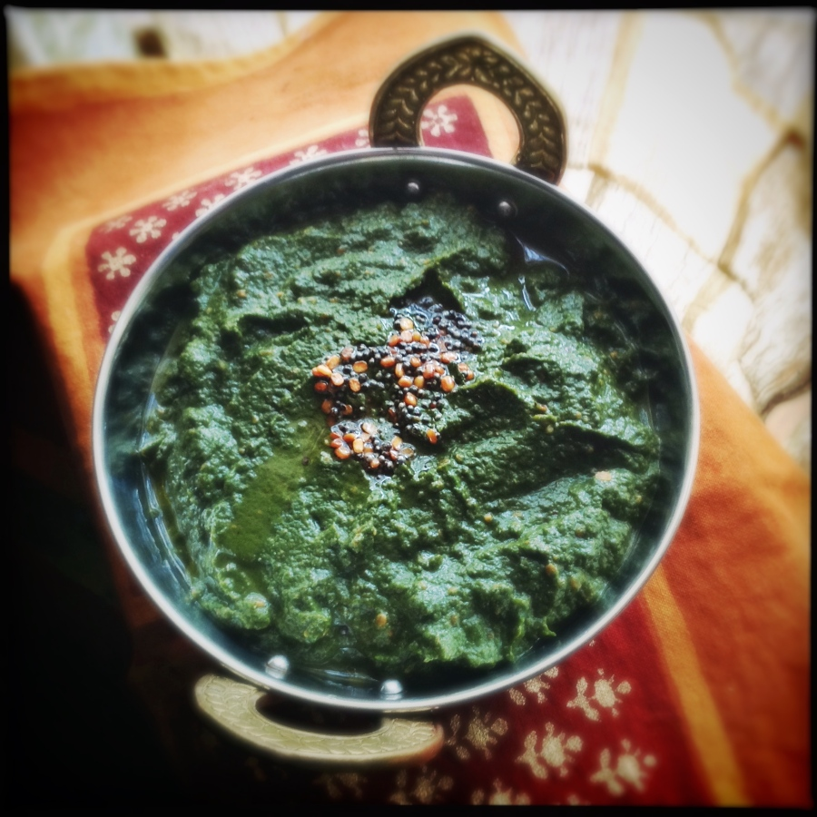 Spinach Pachadi from AP