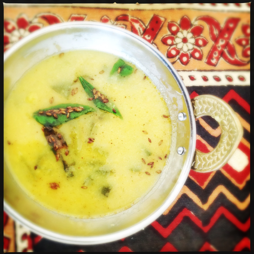 Mung Dal with Cumin and Spinach