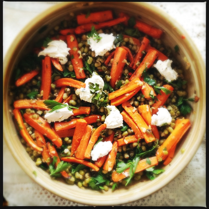 Mung Bean and Baked Carrot Salad | Salads | Ottolenghi | A Life Time of Cooking