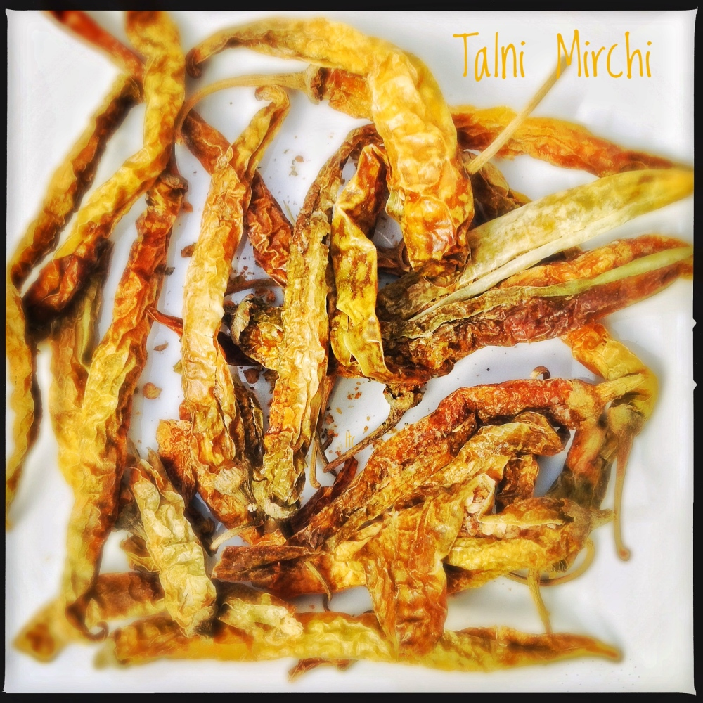 Dry Stuffed Chillies | Talni Mirchi