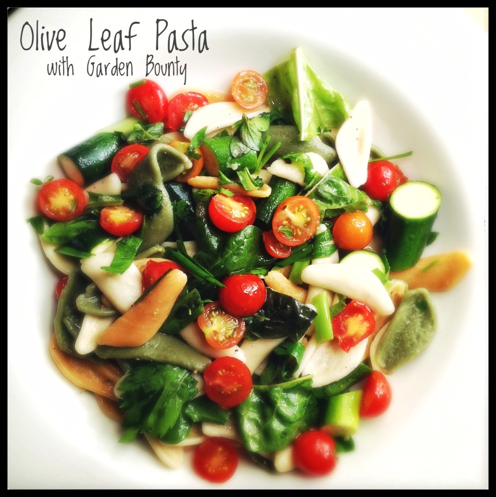 Olive Leaf Pasta with Tomatoes and Herbs
