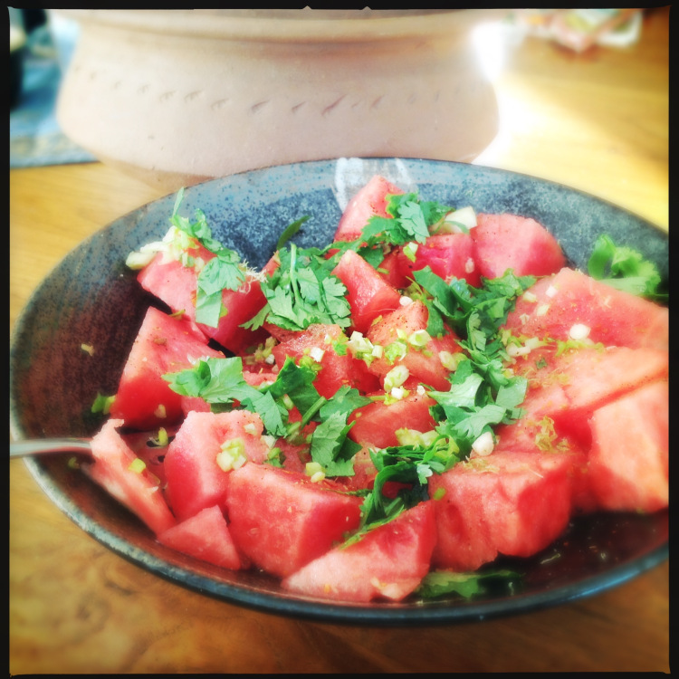 Watermelon Salad with Lime Juice and Chaat Masala