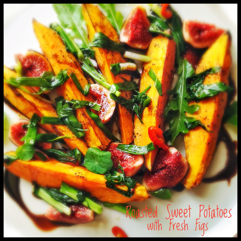 Roasted Sweet Potato and Fresh Figs