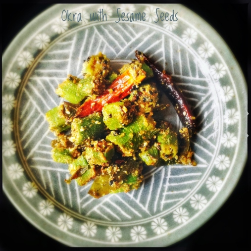 Okra Fry with Sesame Seed