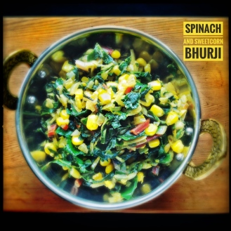 Spinach Sweetcorn Bhurji