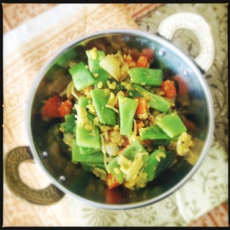 Green Bean and Carrot Poriyal