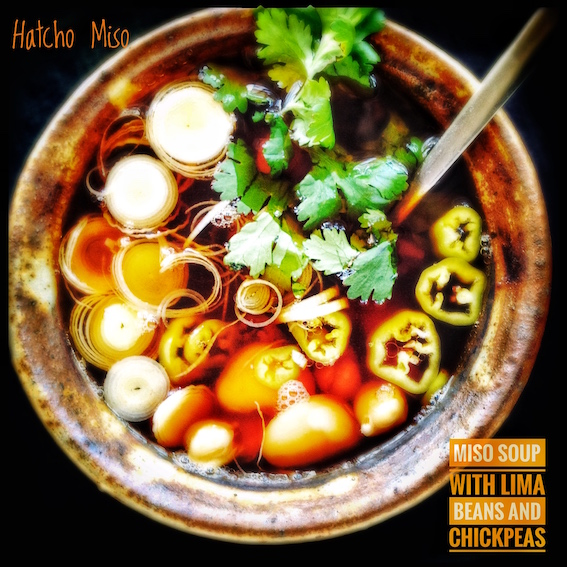Hatcho Miso with Lima Beans and Chickpeas