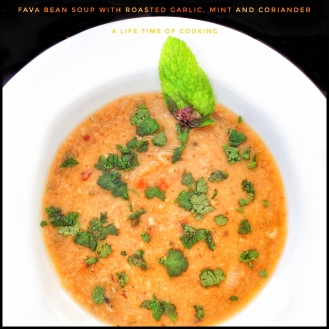Dried Broad Bean Soup with Mint
