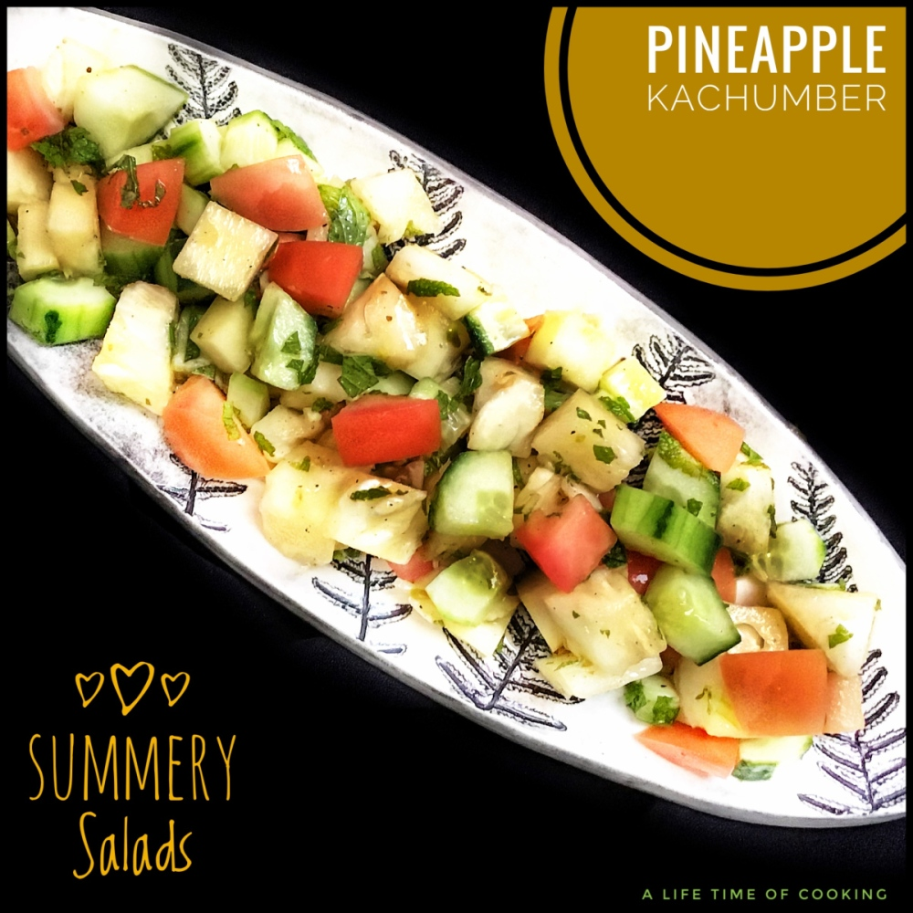 Cucumber and Pineapple Kachumber